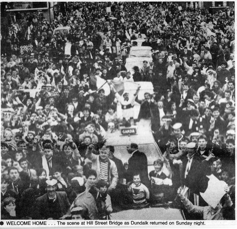 dundalk fai cup 1988 celebrations