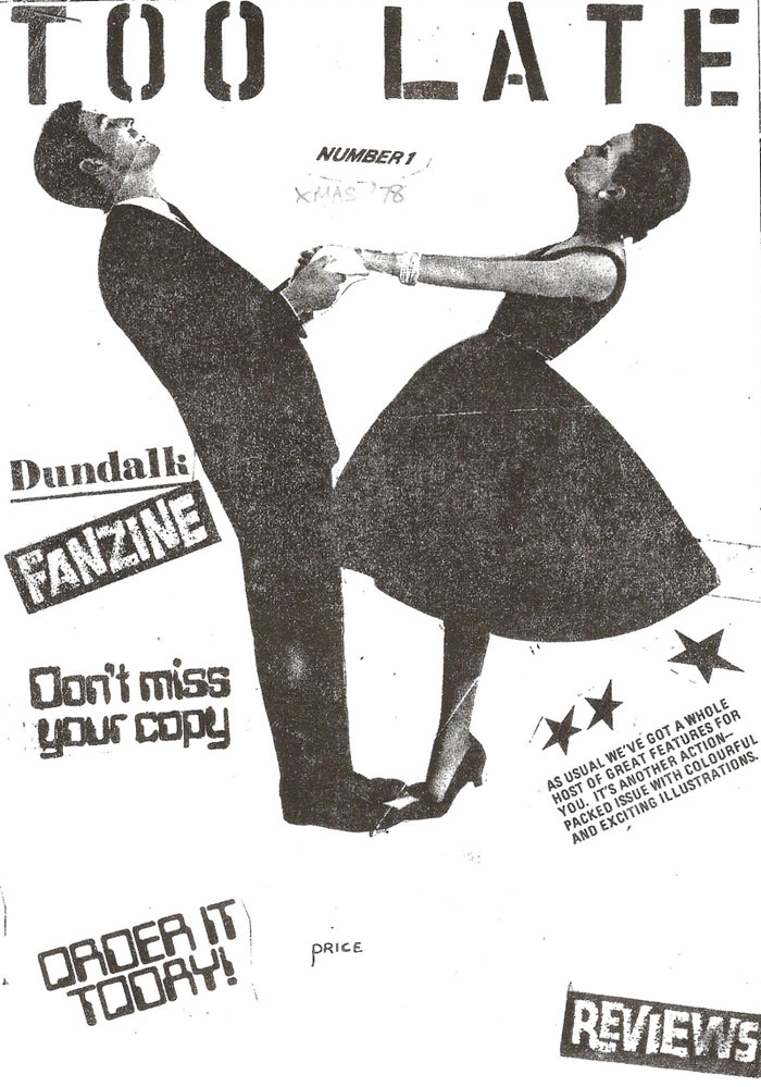 Cover of Too Late issue 1 1978 Dundalk Fanzine