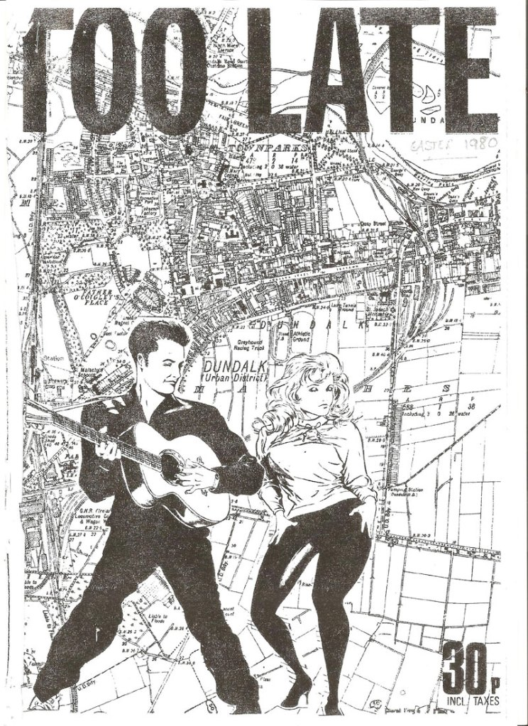too late issue 2 1979 cover -  Dundalk Fanzine
