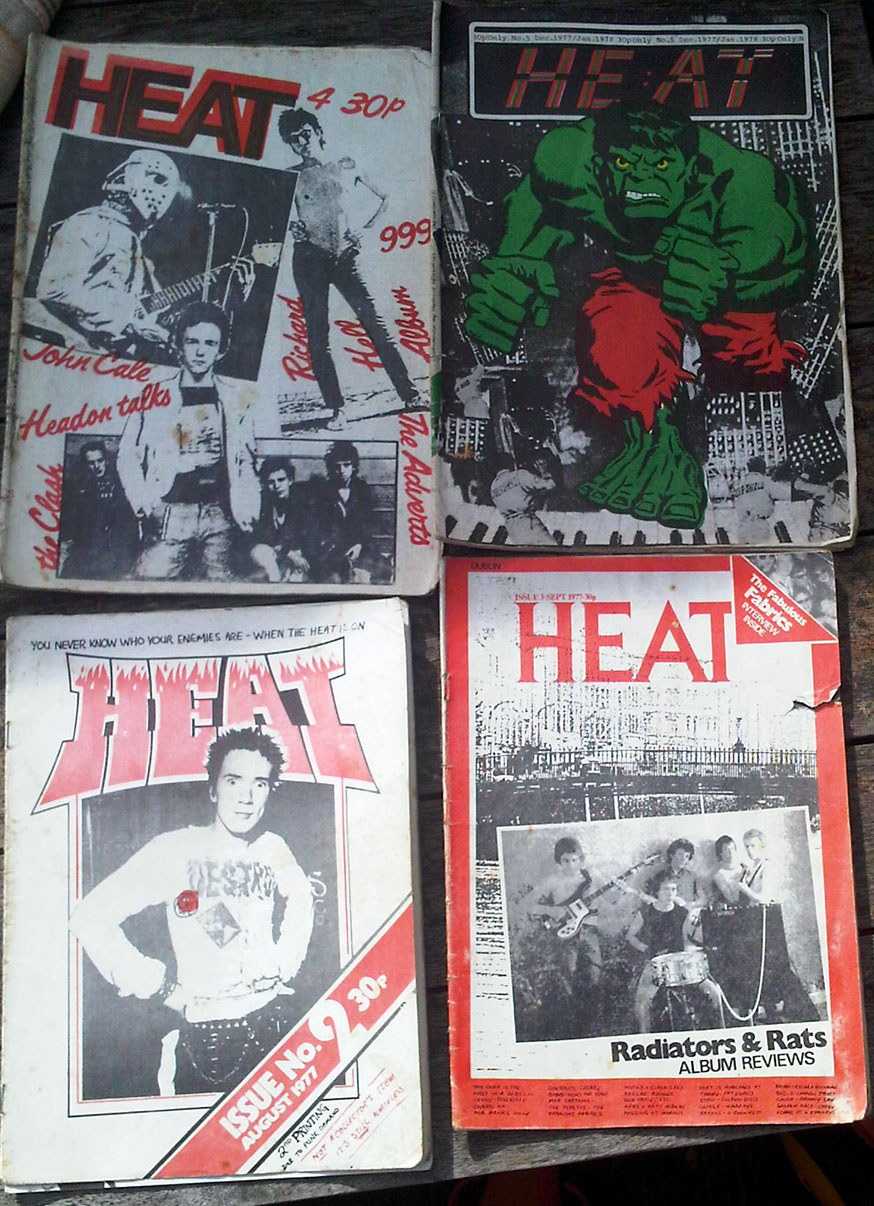 Dublin's Heat Fanzine - the first 5 issues 1977