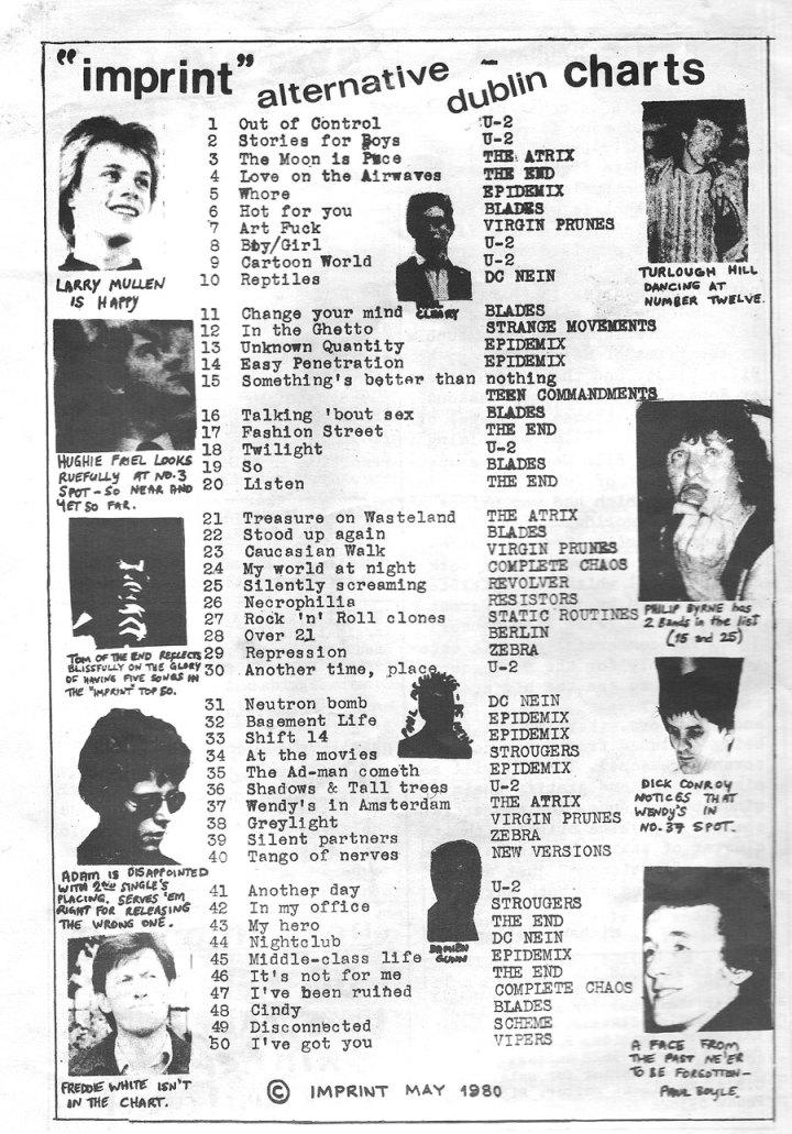 imprint 1980 fanzine top 50 scheme u2 dublin