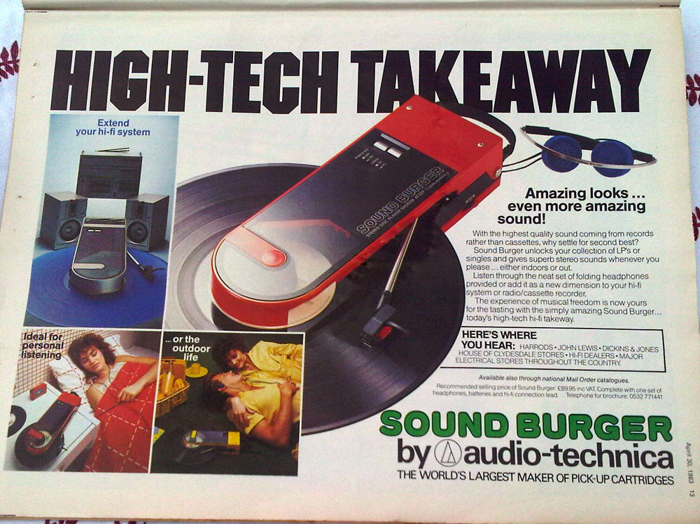 Old Adverts #1 - Sound Burger - the Ipod of 1983?