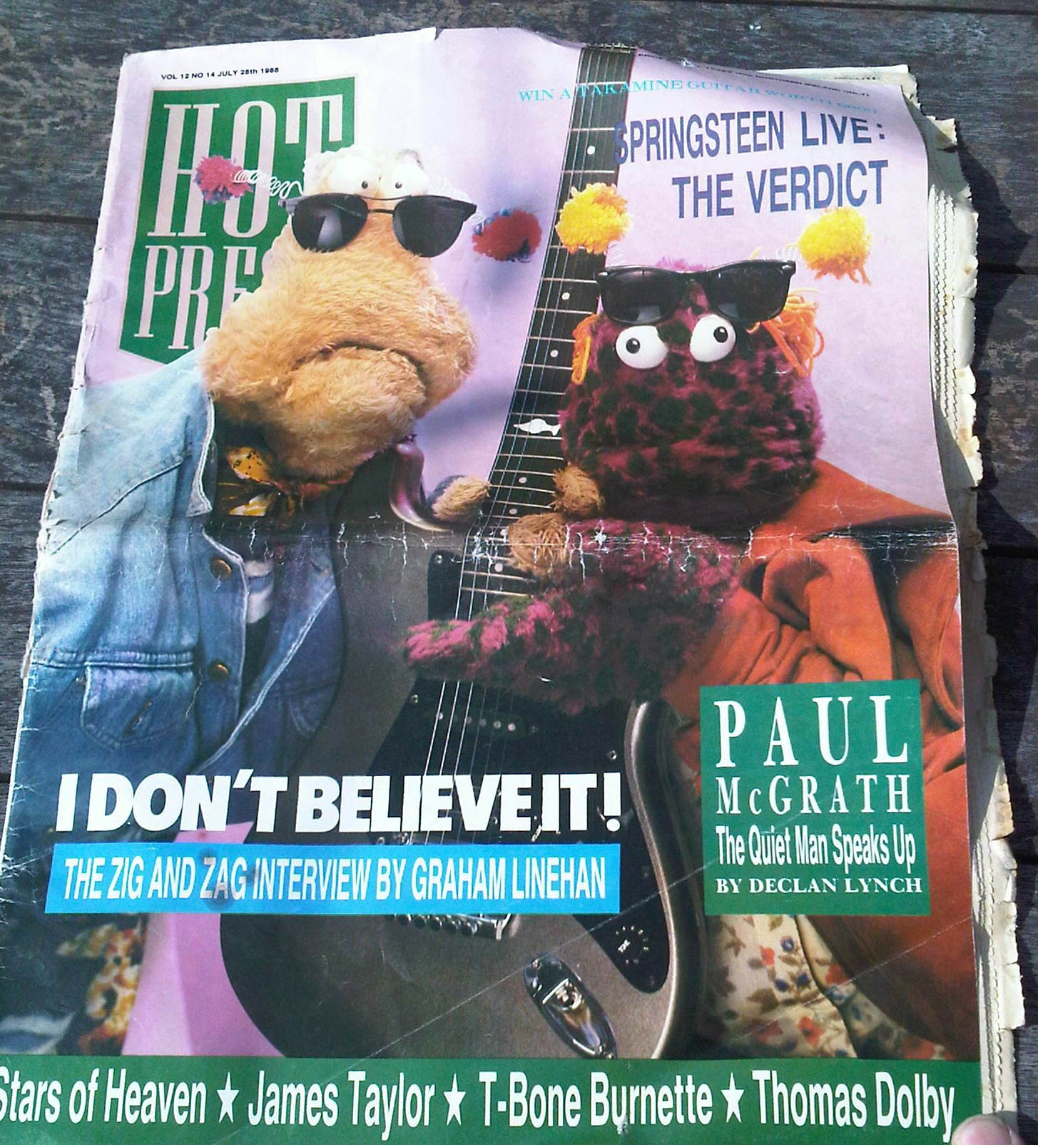Hot Press July 1988 - Zig & Zag interview by Graham Linehan