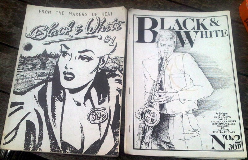 black&white fanzine covers issues 1 and 2
