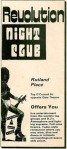 Revolution Night Club advert from Man Alive mag 1974