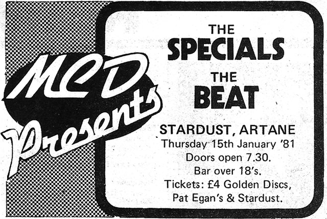 specials beat jan 15 1981 advert