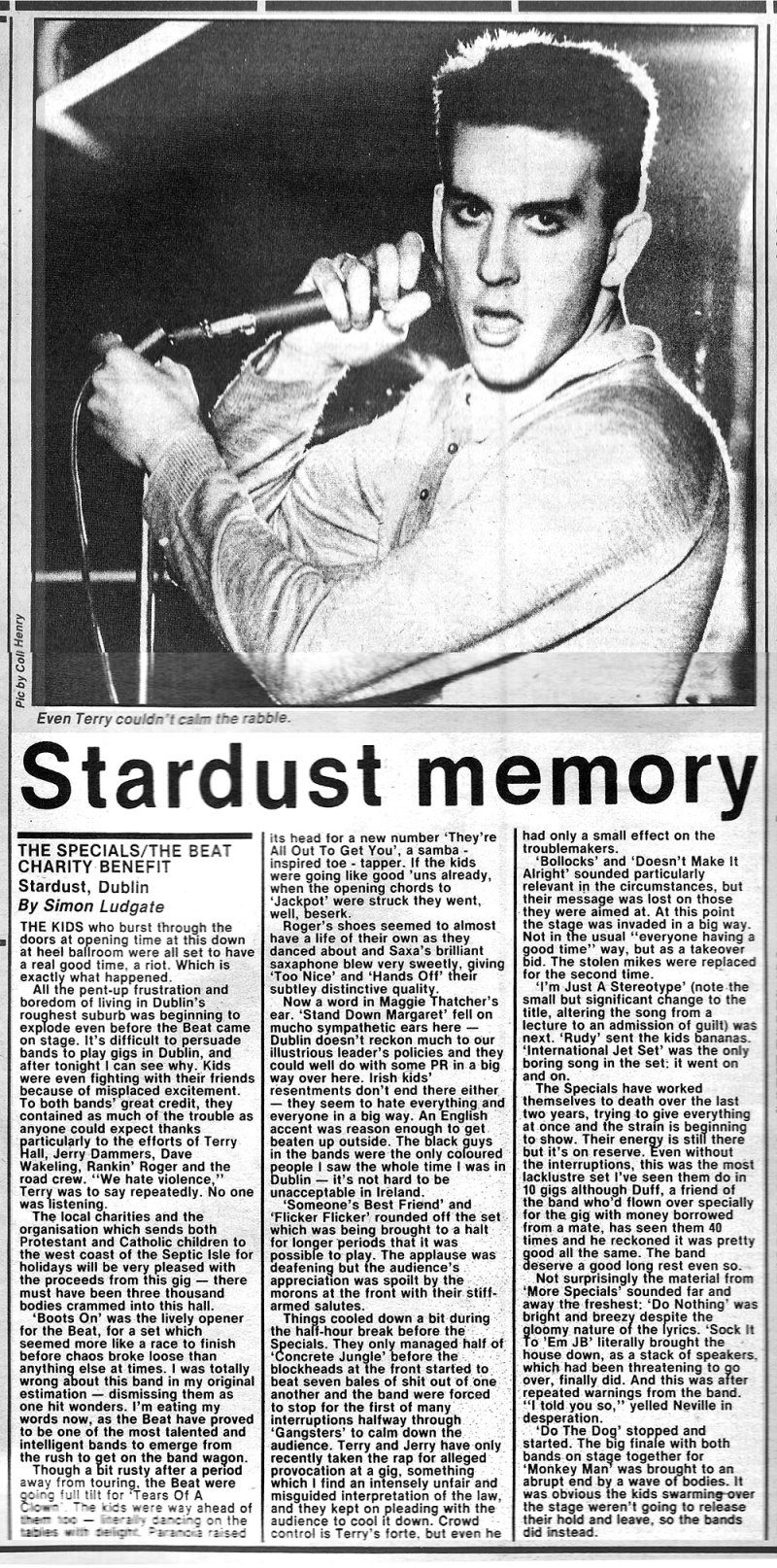 terry hall specials artane stardust ballroom jan 1981