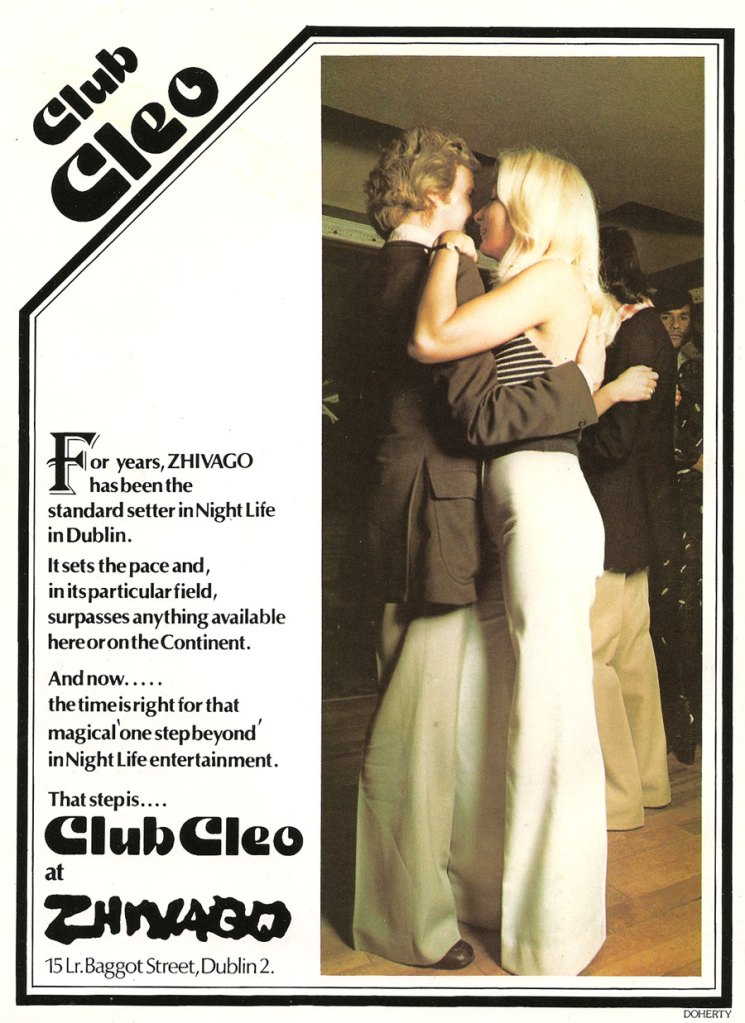 club cleo zhivago dublin 2 nightclub 1975