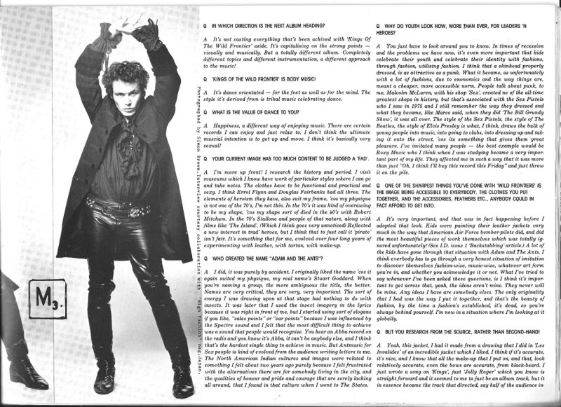 Adam Ant Interview from I-D issue 5