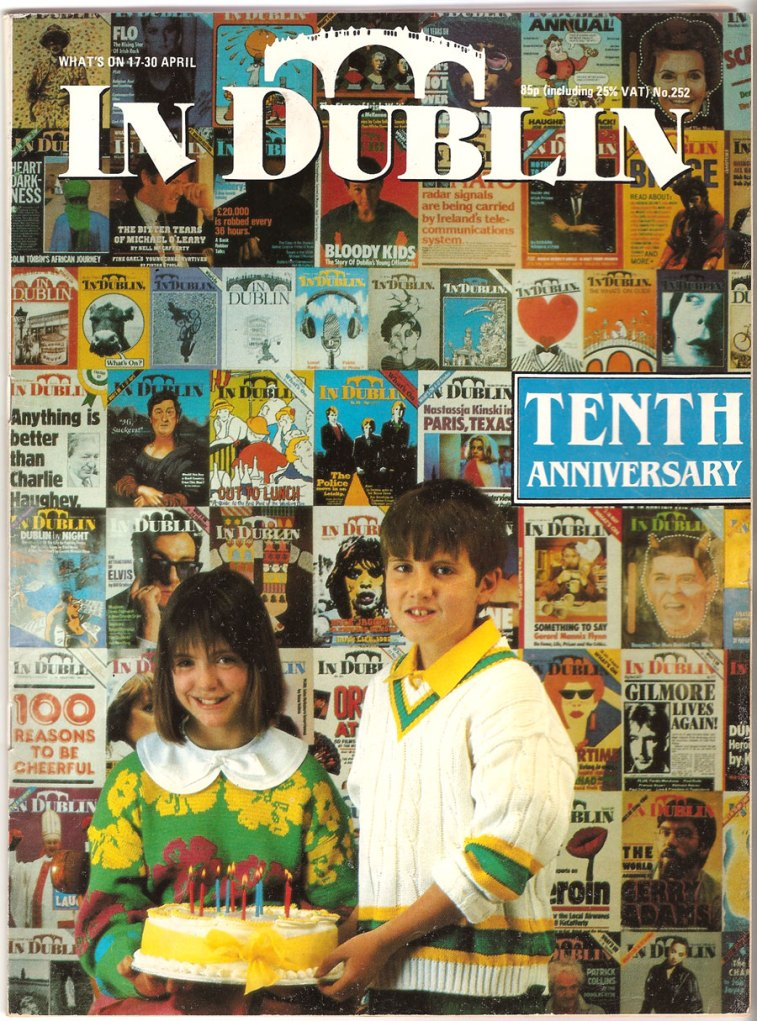 """In Dublin"" magazine 1987 10th anniversary"