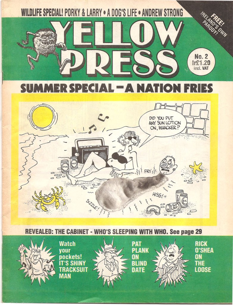 Yellow Press Ireland Comic Magazine 1992 Cover