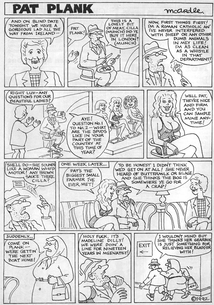 Yellow Press Ireland Comic Magazine 1992 pat the plank