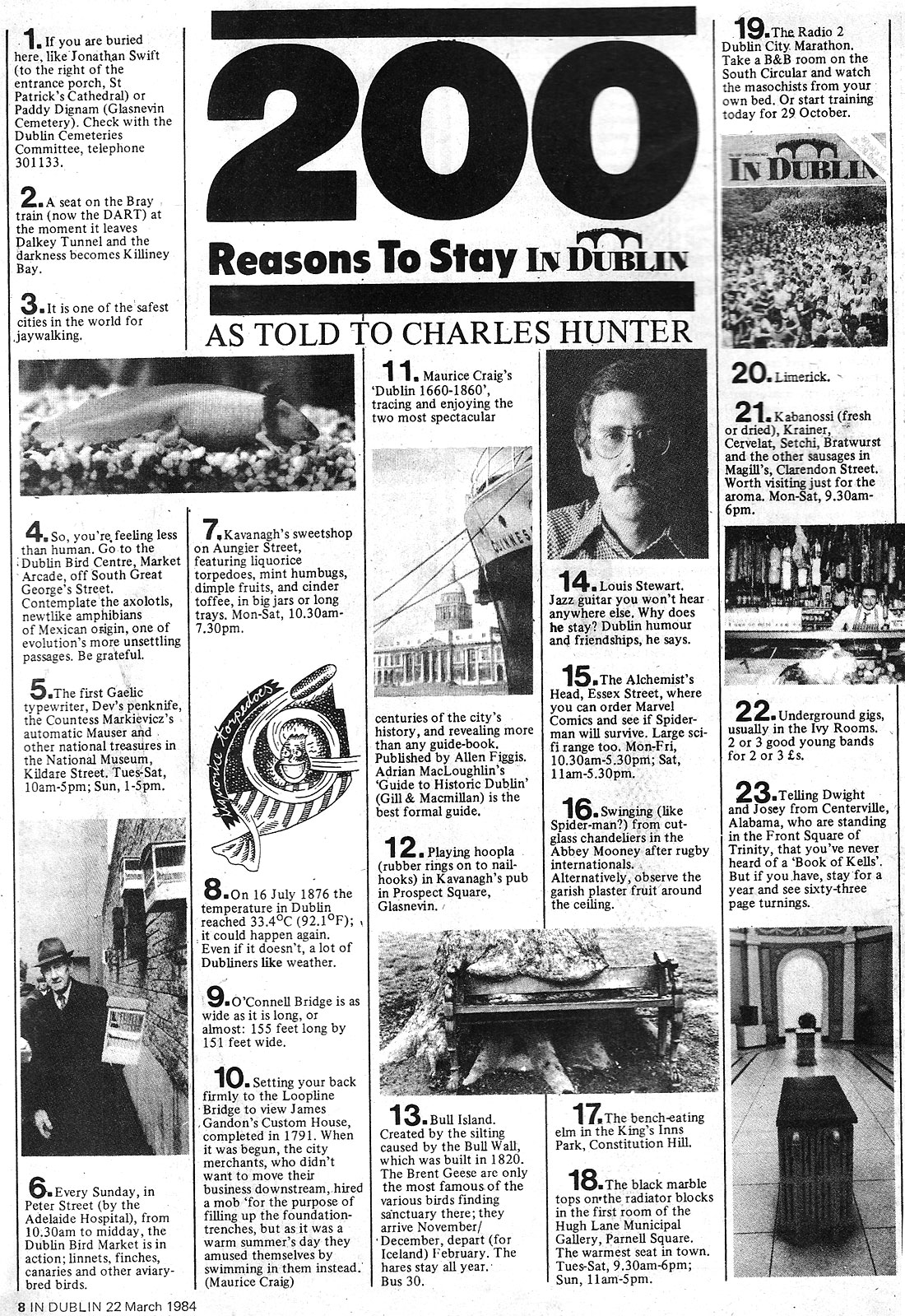 in dublin magazine march 1984 200 reasons to stay in dublin 1-23