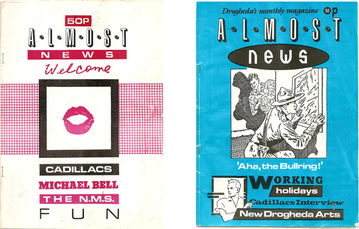 almost news drogheda magazine 1980s covers of 2 issues