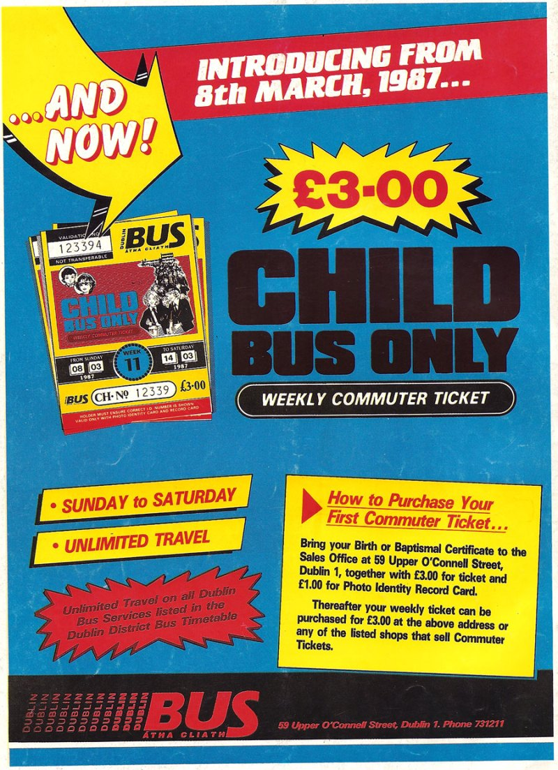dublin bus child ticket weekly