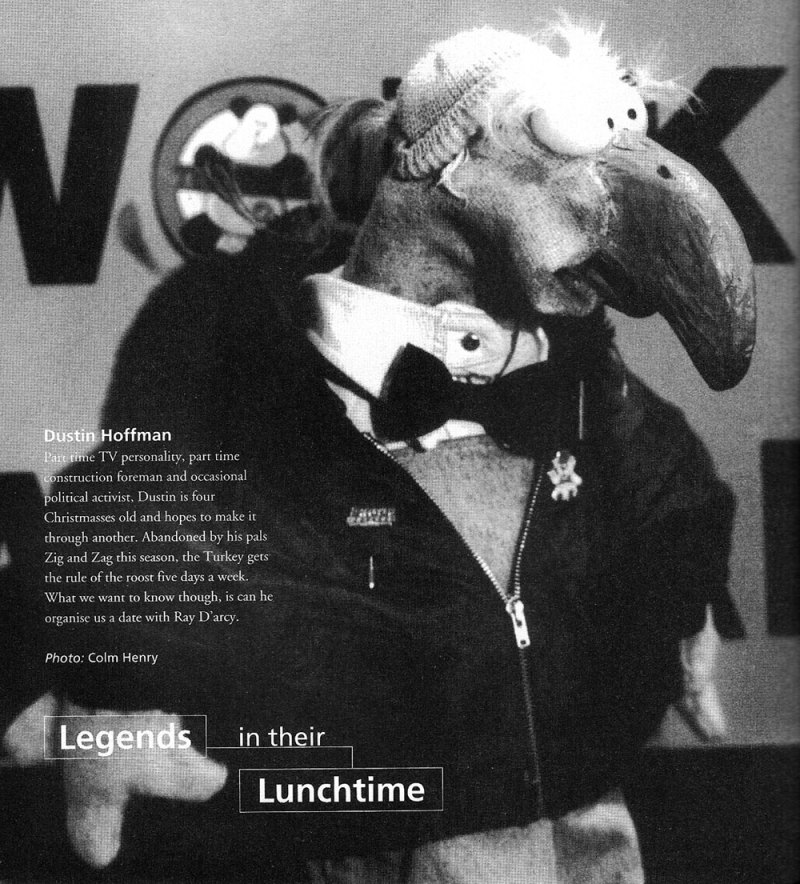 d'Side dSide 1993 Dublin Ireland Style magazine dustin the turkey