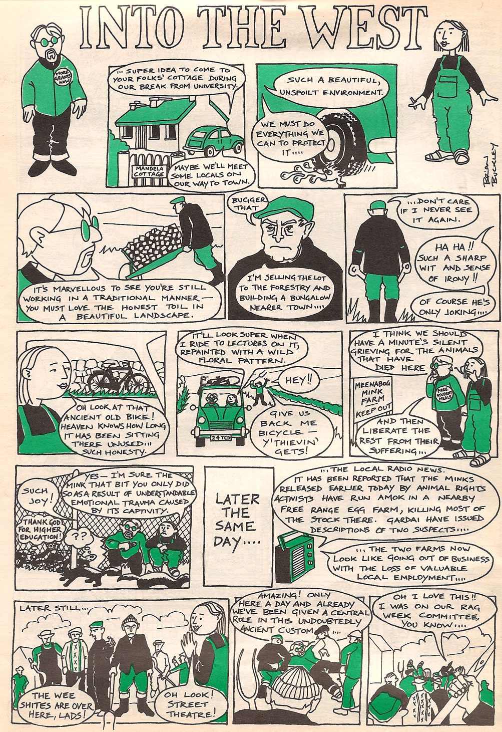 fitz irish comic april 1995 brian buckley