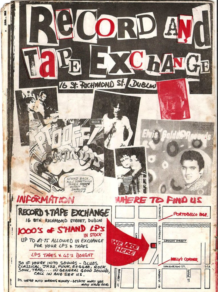 Dublin Record & Tape exchange advert 1977