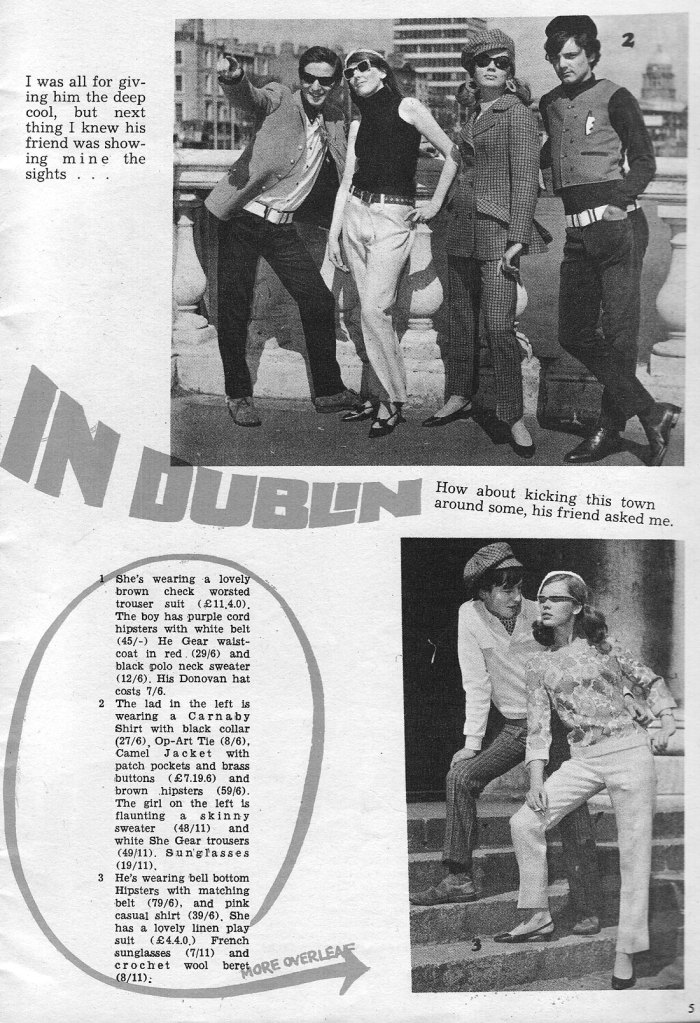 dublin 1966 mod roches stores fashion shoot