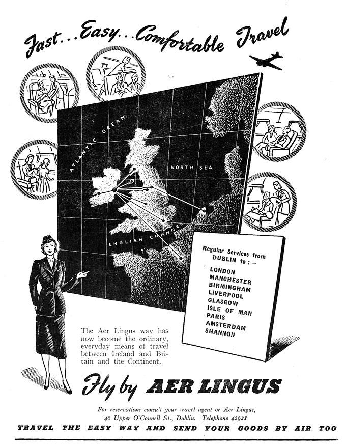 aer lingus advert 1950 1951