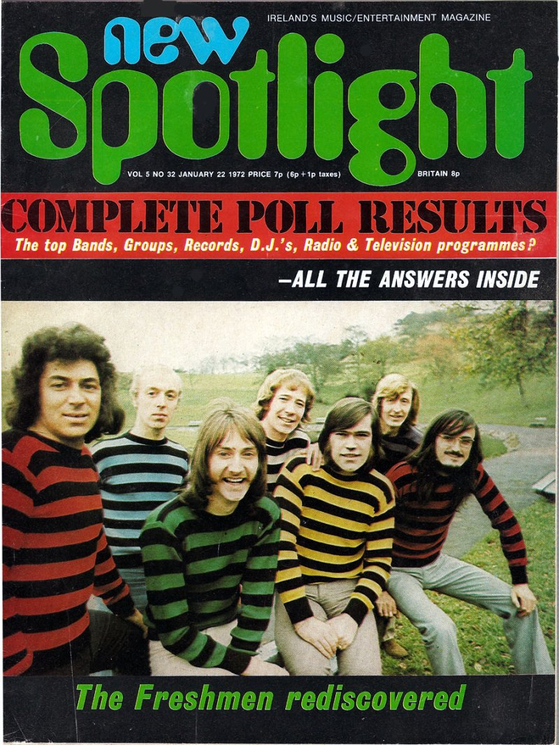 new spotlight mag ireland January 1972 cover freshmen