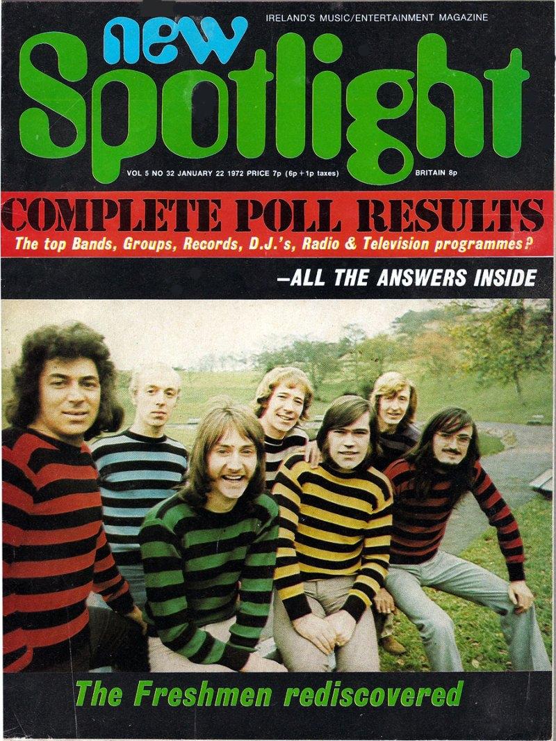 new spotlight mag ireland January 1972 cover freshmen