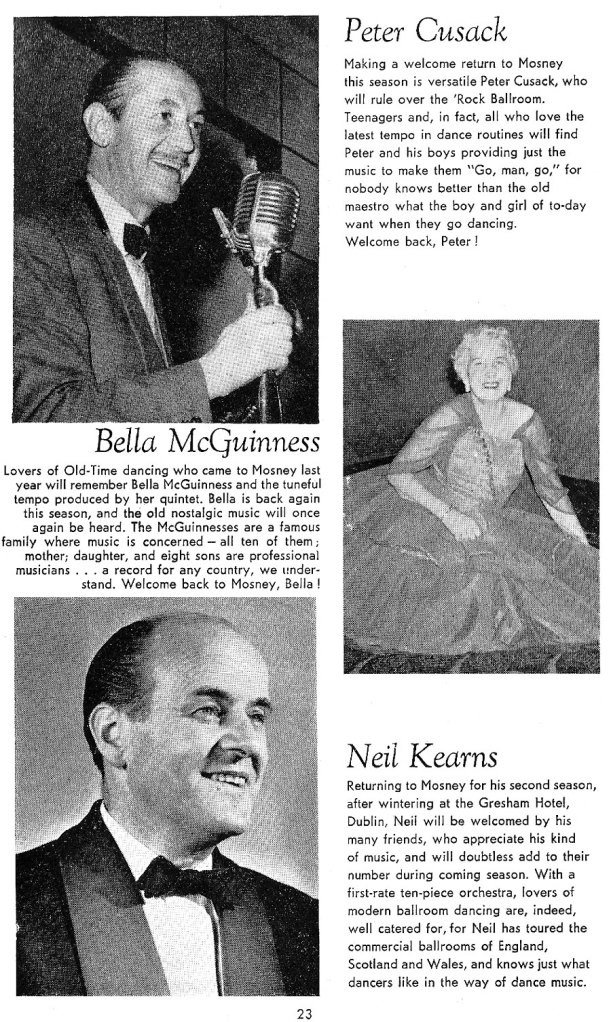 entertainers butlins mosney 1962