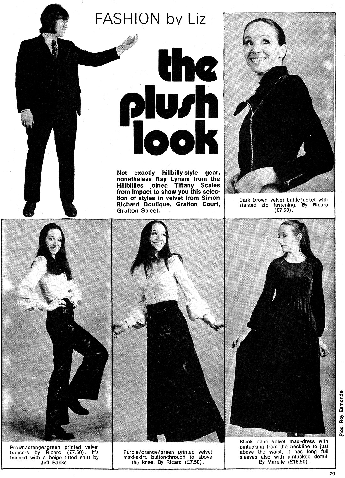 new spotlight mag ireland January 1972 fashion