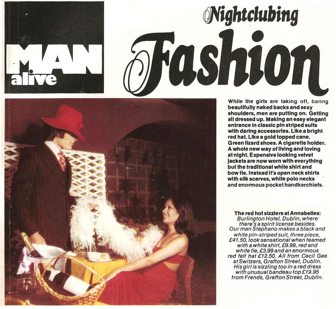 fashion annabells nightclub burlington hotel 1974