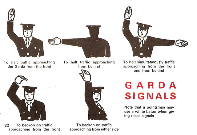irish rules of the road 1967 ireland garda