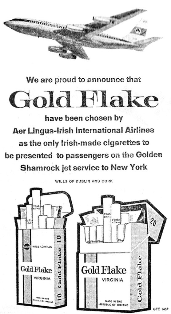 goldflake advert 1962 aer lingus