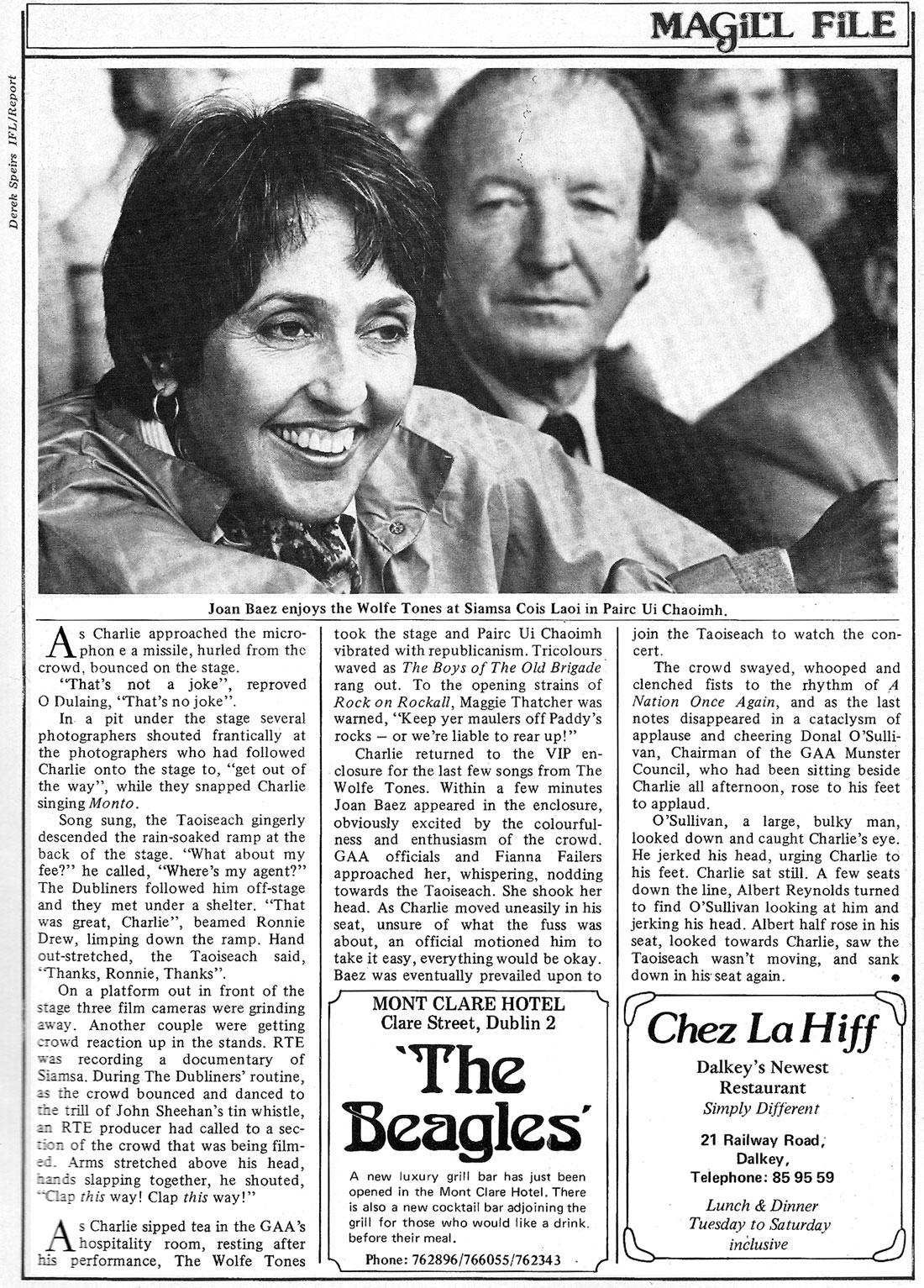 joan baez charlie haughey cork 1980