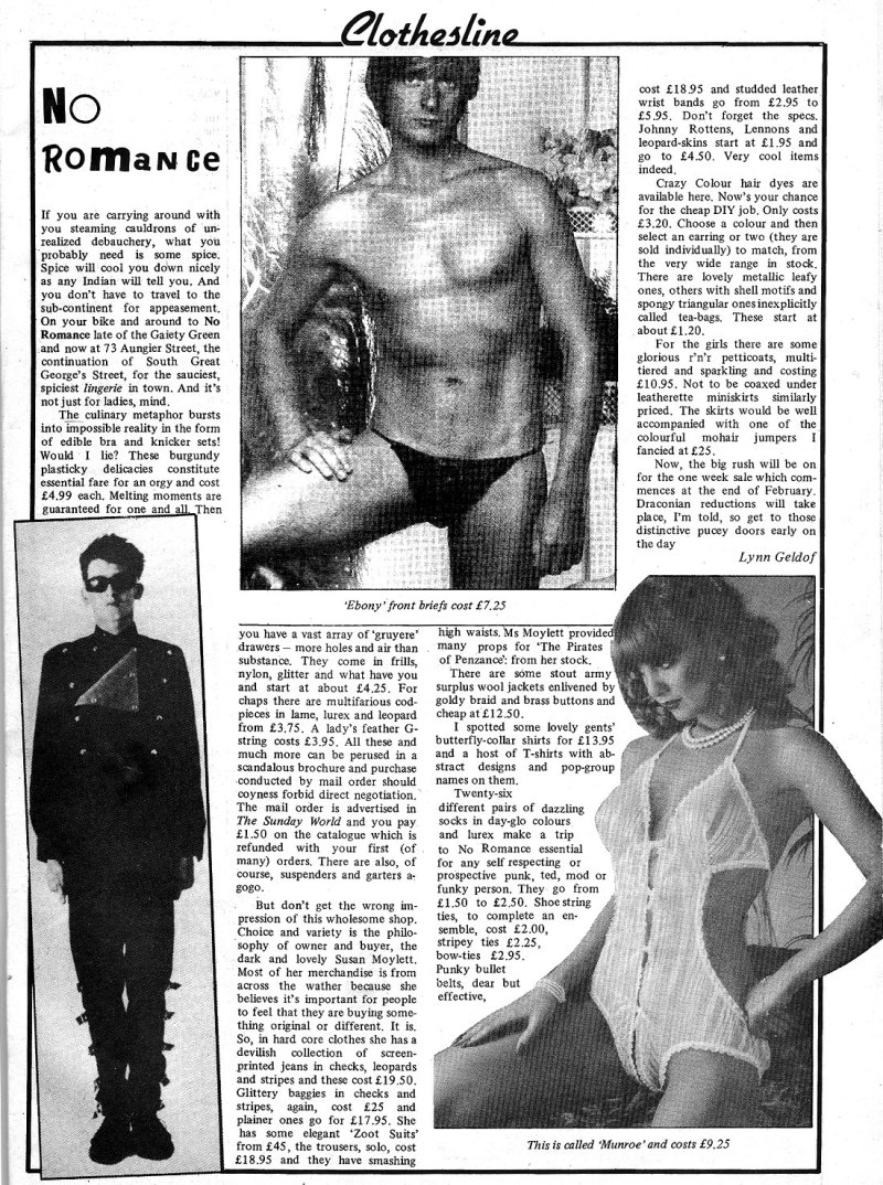 no romance shop in dublin 1982
