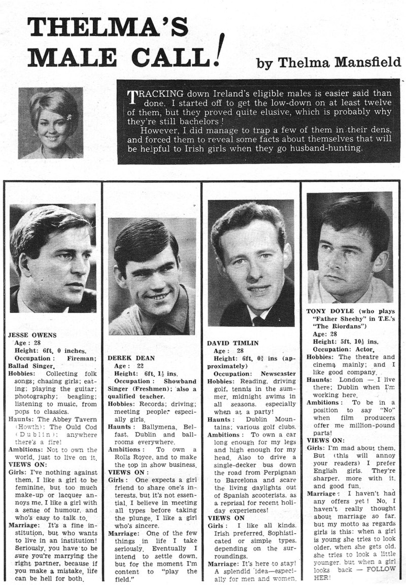 thelma_man derek dean jesse owens david timlin tony doyle riordans 1966