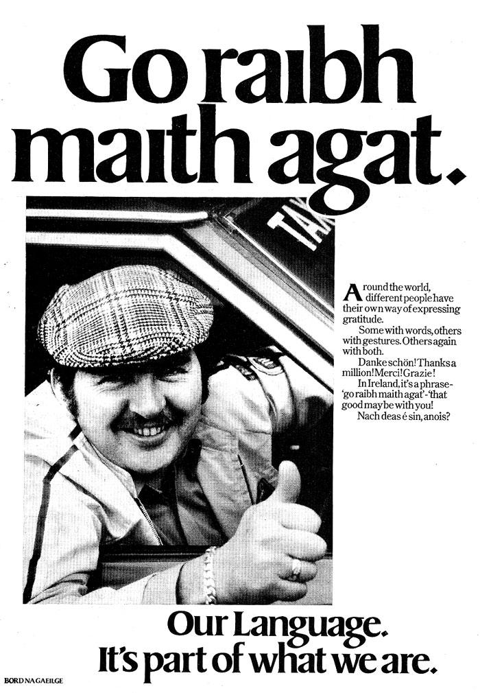 Old Adverts #28 - Bord Na Gaeilge - 1979