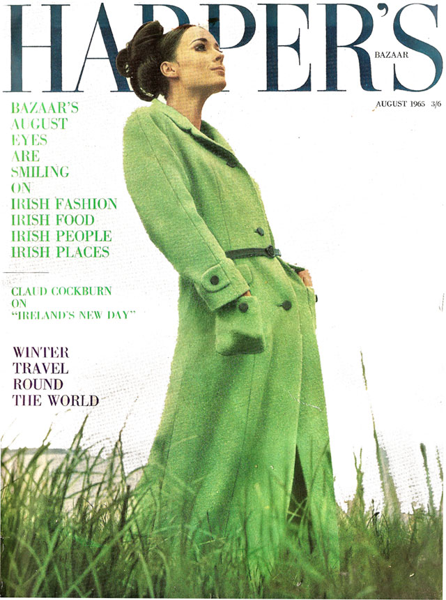 Harpers Bazaar August 1965 Cover
