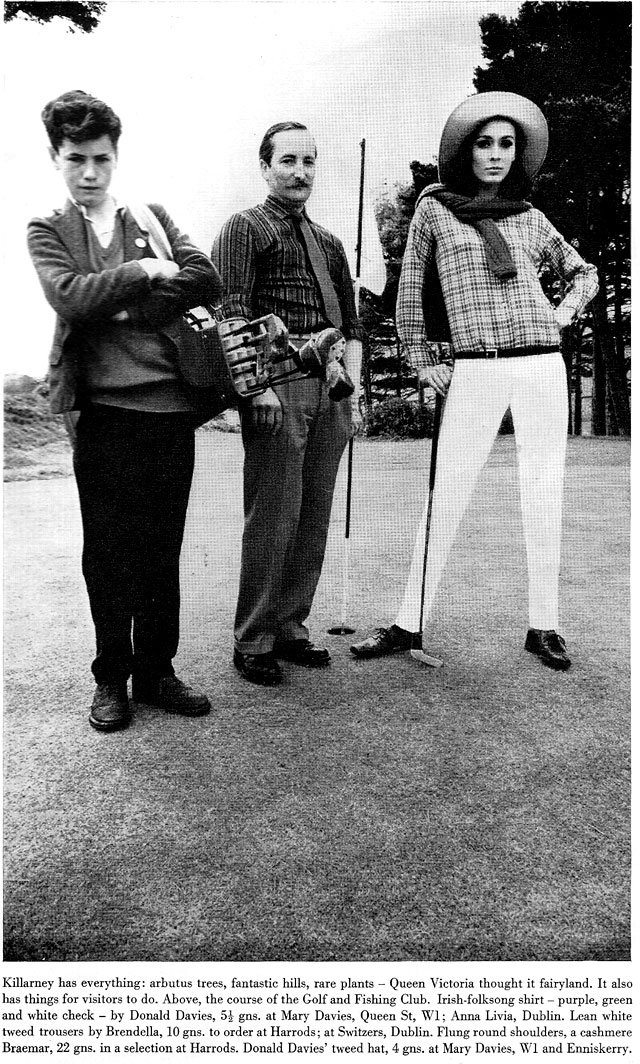 Harpers Bazaar August 1965 golf