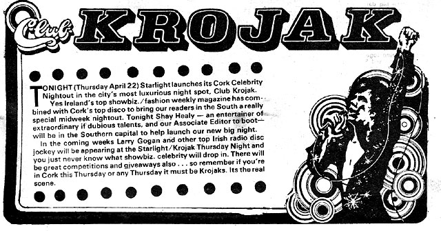 krojak-starlight-april-1976 cork nightclub