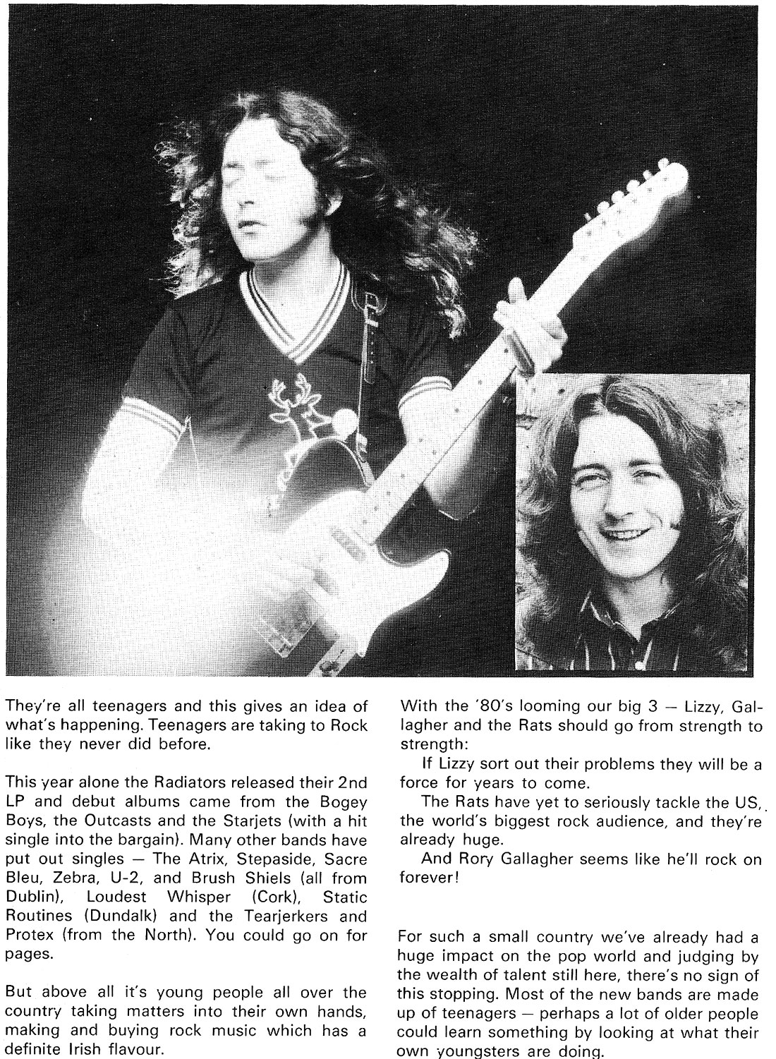 Ian Wilson youngline 1980 rory gallagher