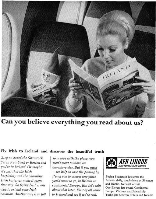 aer lingus advert 1965 bord failte