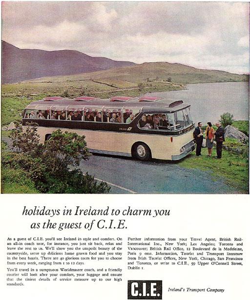 cie bus tours ireland 1965