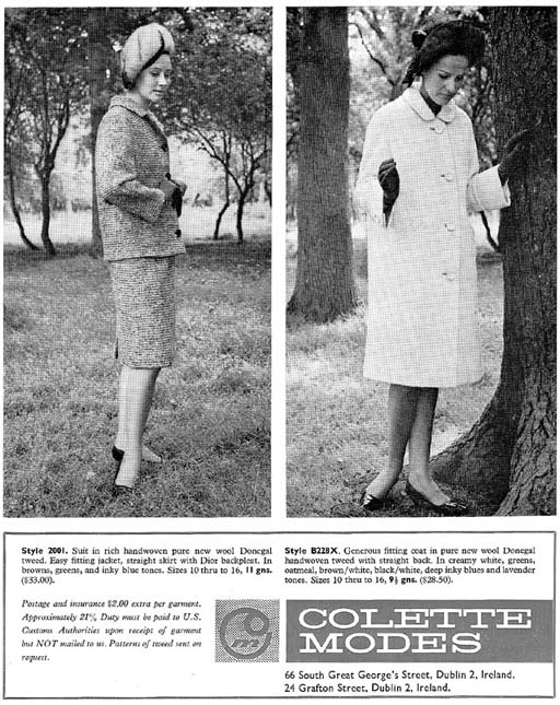 colette fashion Dublin 1965