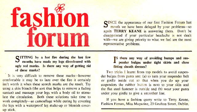 miss magazine 1966 ireland terry keane fashion forum
