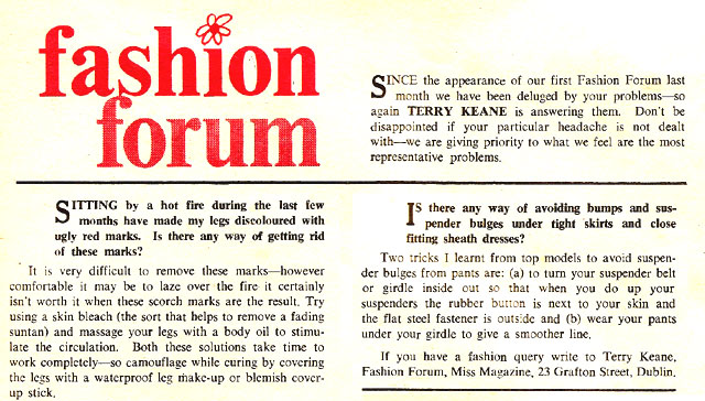 miss magazine 1966 ireland terry keane fashion forum