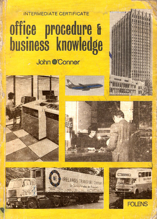 front cover irish office procedure business knowledge 1979