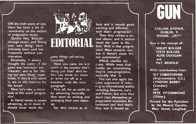 dublin mag gun editorial 1972 issue 4