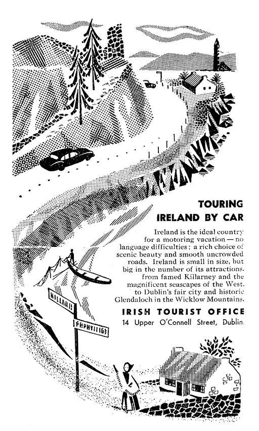 Old Adverts #37 - Tour Ireland by Car - 1957