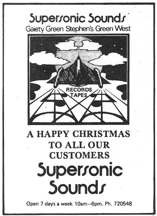 supersonic sounds dublin 1979 record shop