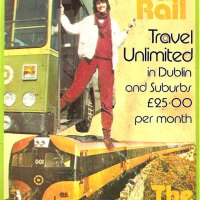 Old Adverts #35 -  Integrated Bus & Rail Ticket - Dublin 1980's