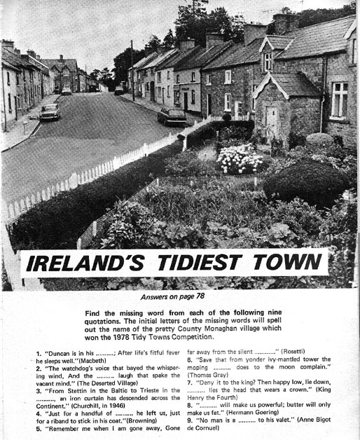 tidy-town glaslough 1979